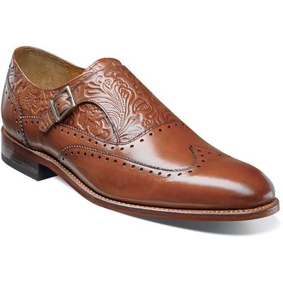 Madison II Floral Wingtip Monk Strap