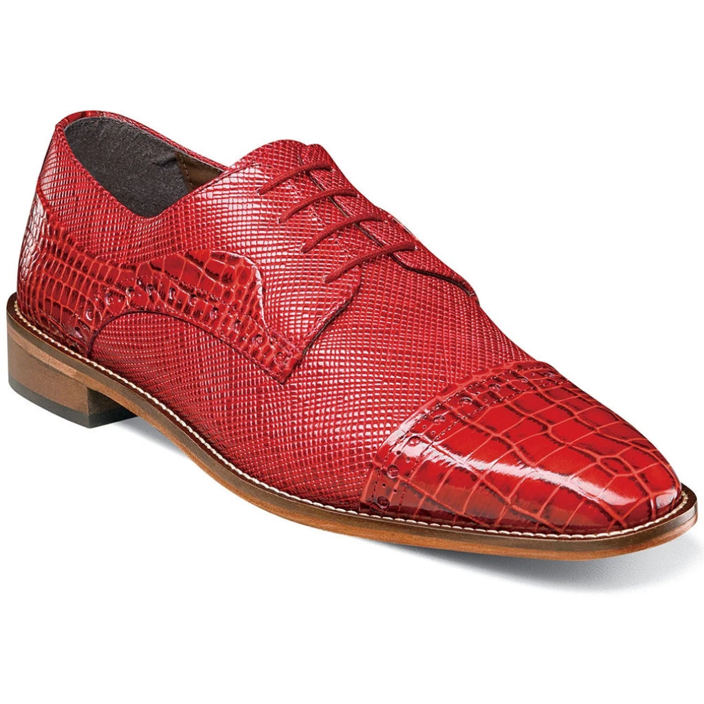 Stacy Adams Rodrigo Cap Toe Oxford - Red Shoes - Dapperfam.com