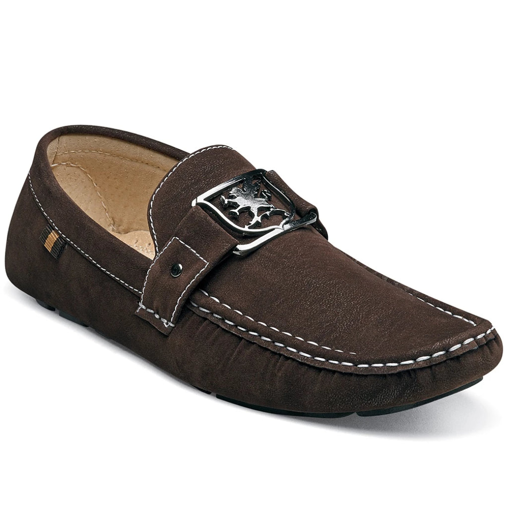 Stacy Adams Veda Moc Toe Loafer - Brown Shoes - Dapperfam.com