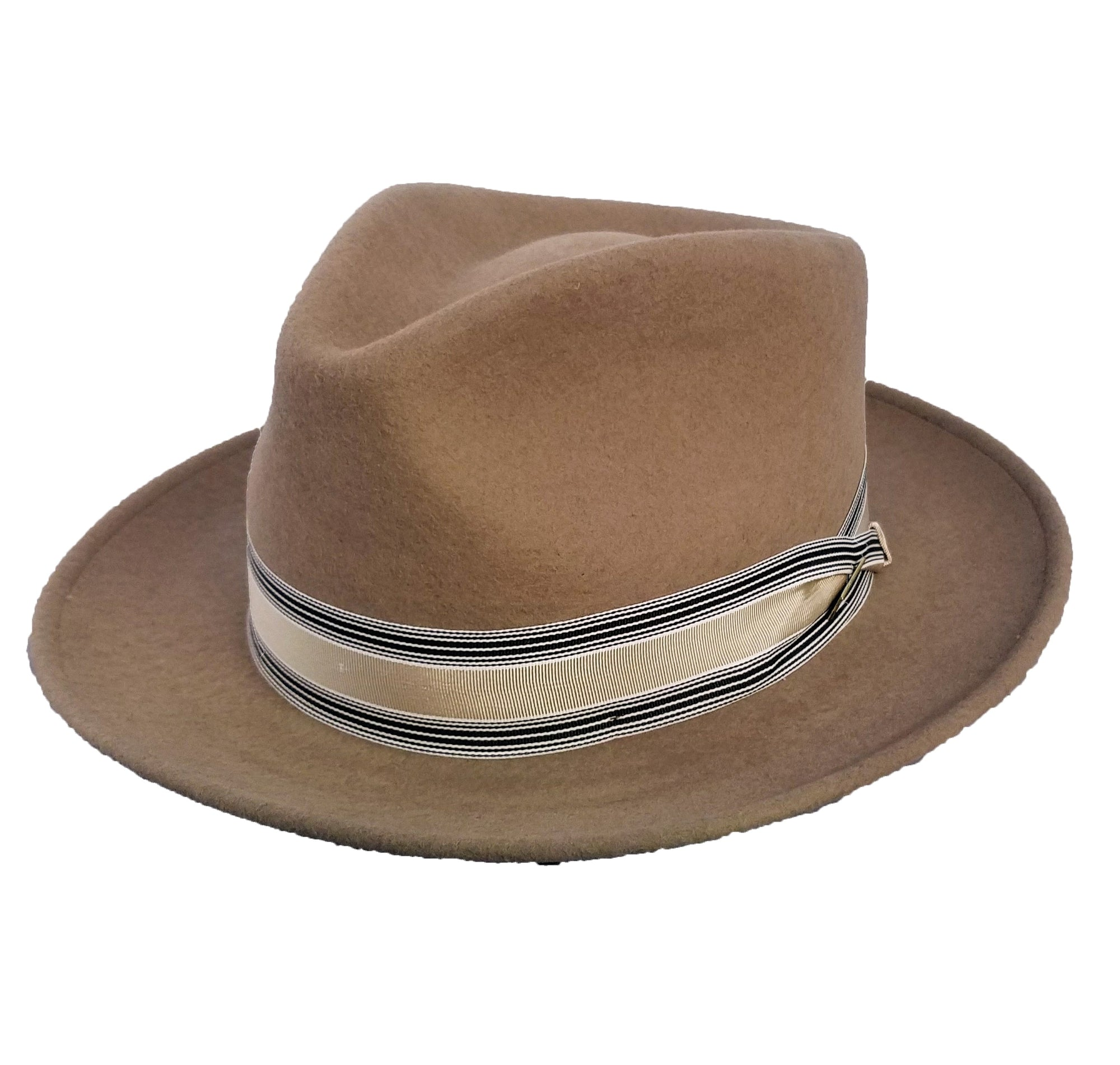 Deluxe Showman Teardrop Crown Wool Felt Fedora Hat - Dapperfam.com