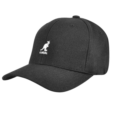 Kangol Wool Flexfit Baseball Cap - Black Hat - Dapperfam.com