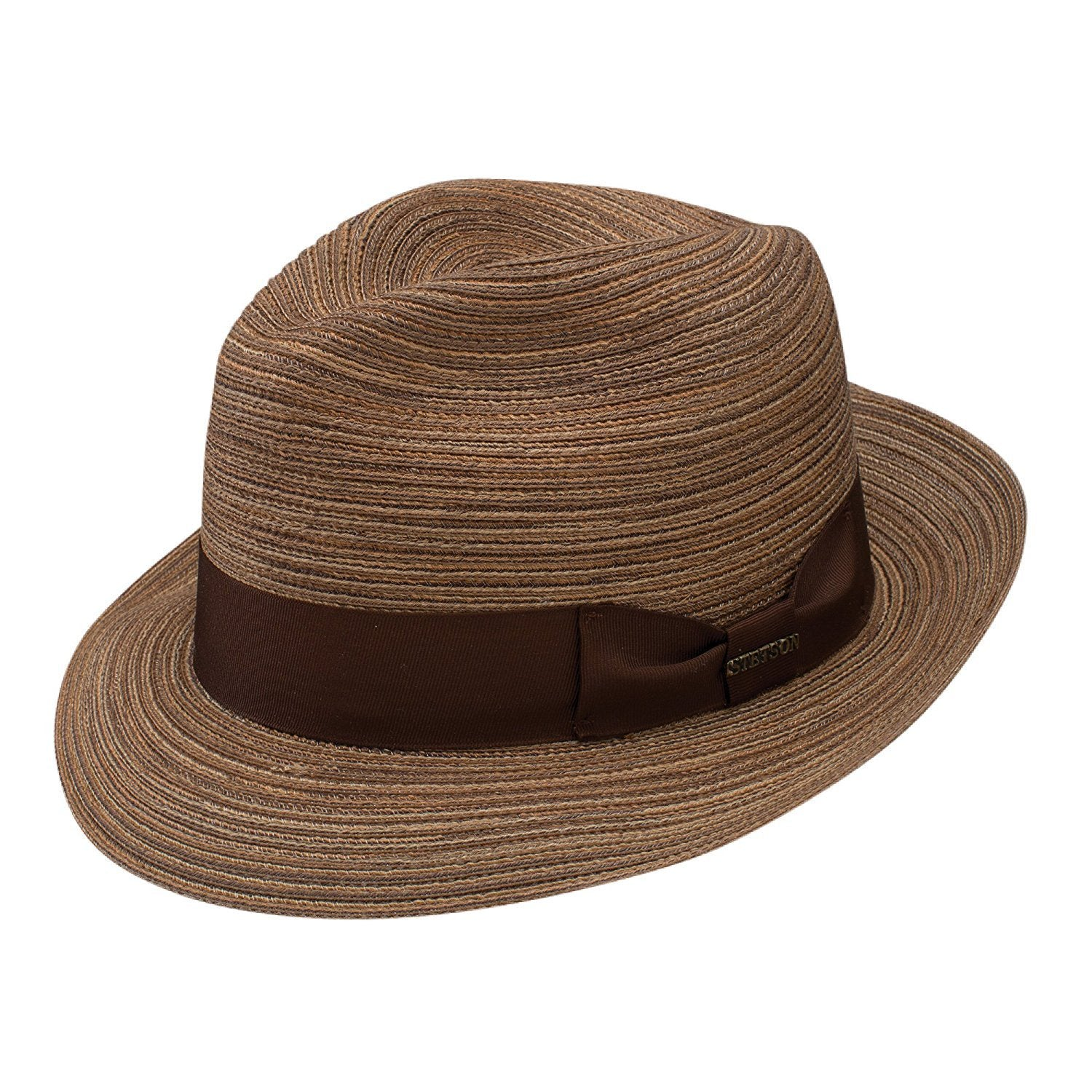 Stetson Regatta Cotton Braid Fedora Hat - Brown - Dapperfam.com