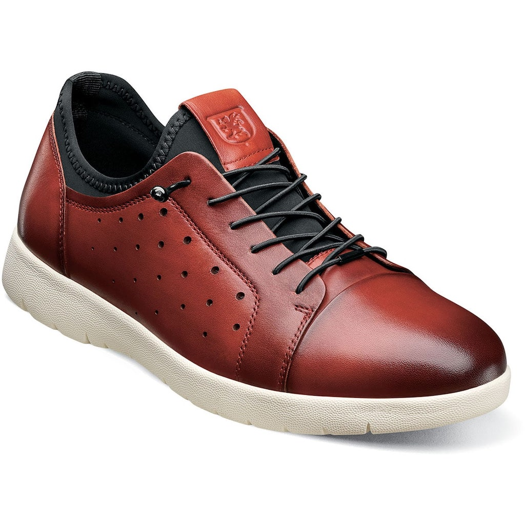 Halden Cap Toe Elastic Lace Up - Dapperfam.com