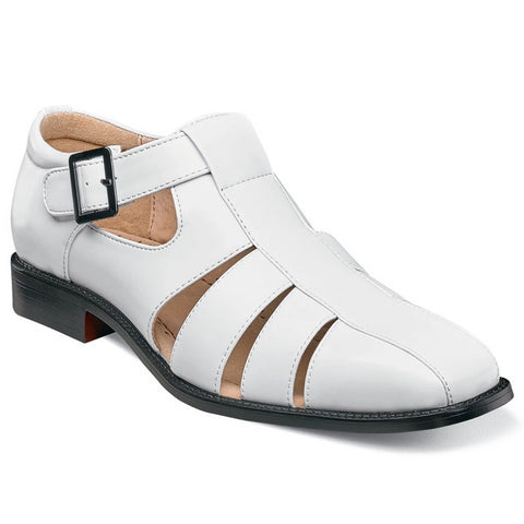Stacy Adams Calisto Fisherman Sandal - White Shoes - Dapperfam.com