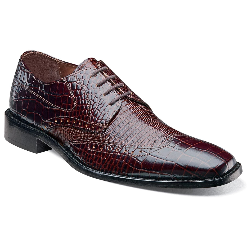 Stacy Adams Amato Wingtip Oxford - Brown Multi Shoes - Dapperfam.com