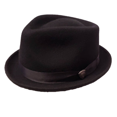 Dobbs Shorty Stingy Brim Fedora - Black Hat - Dapperfam.com