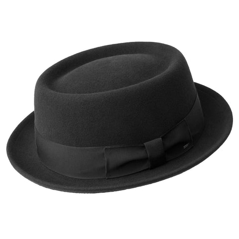 Bailey Darron Wool Felt Pork Pie - Black Hat - Dapperfam.com