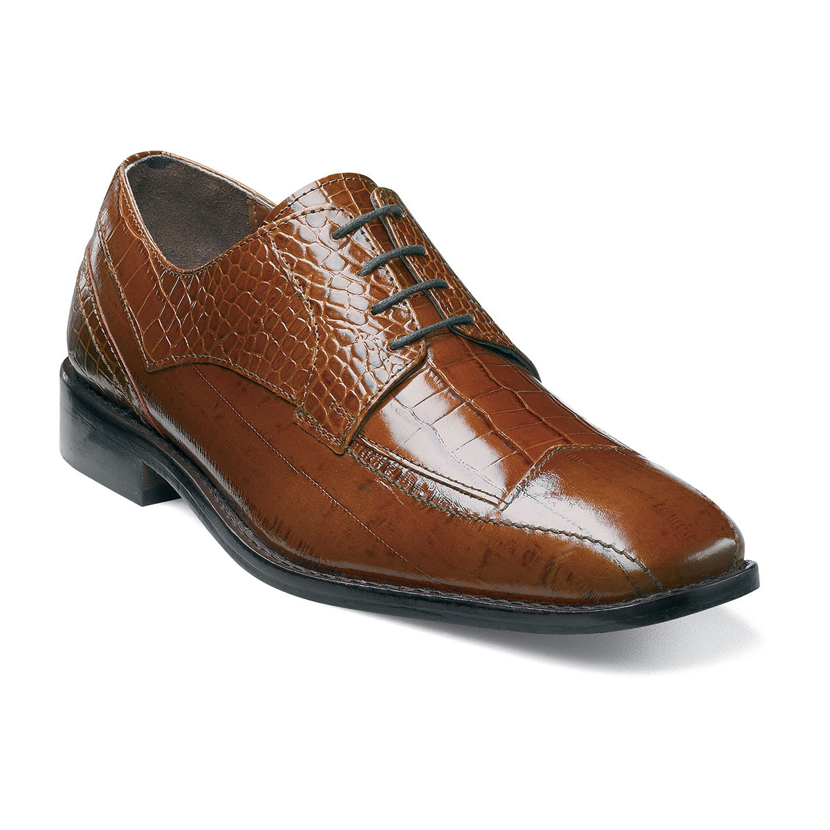 Stacy Adams Tarviso Oxford - Tobacco Shoes - Dapperfam.com