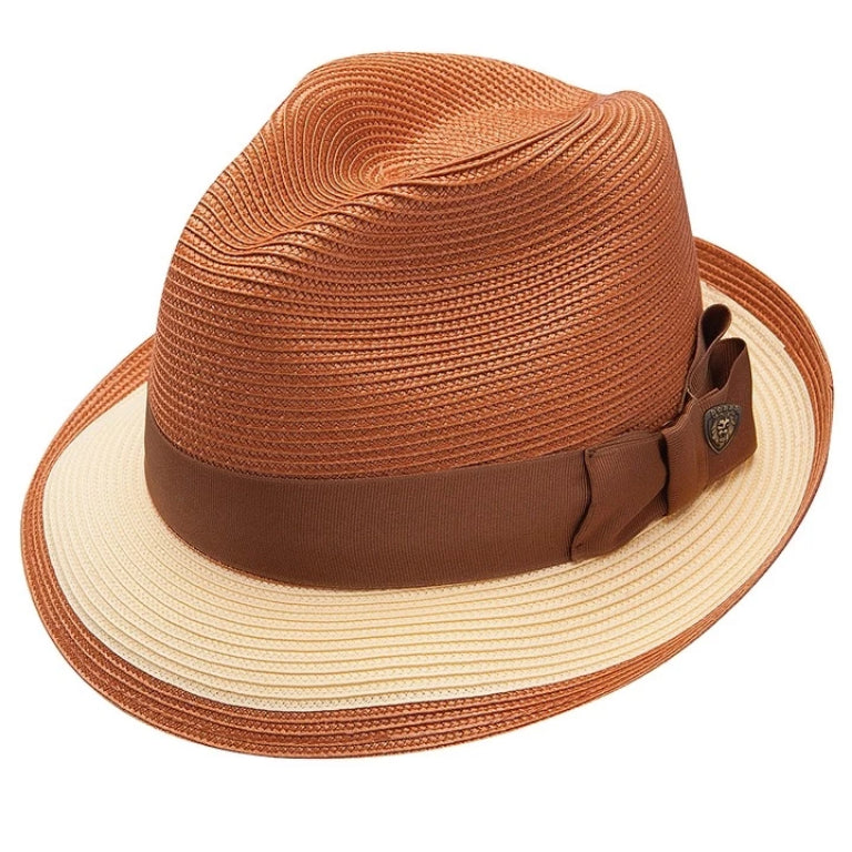 Dobbs Theadore Milan Straw Trilby - Copper / Yellow Hat - Dapperfam.com