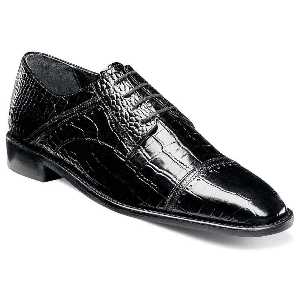 Stacy Adams Raimondo Cap Toe Oxford - Black Shoes - Dapperfam.com
