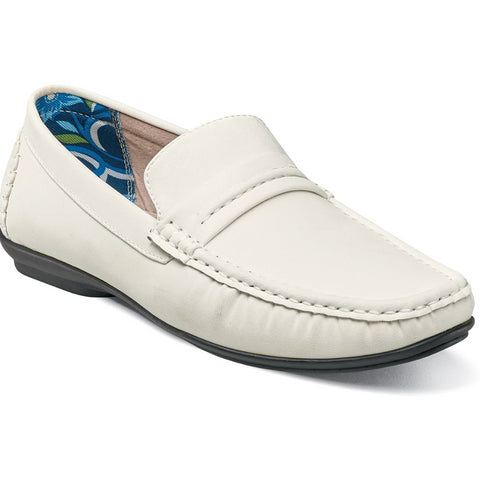 Stacy Adams Park Moc Toe Slip-On Shoes - Dapperfam.com