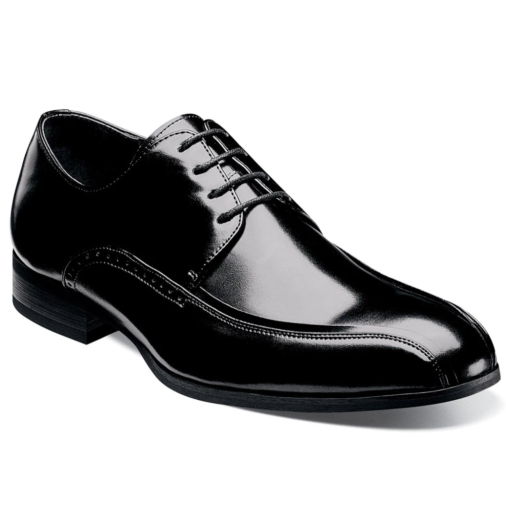 Stacy Adams Gilroy Bike Toe Derby Shoe - Black Shoes - Dapperfam.com