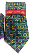 Robert Lewis Tie and Hankie Set - Emerald Necktie - Dapperfam.com