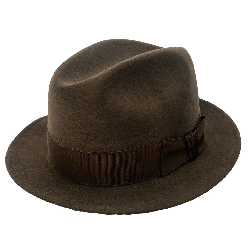 Gotham Crushable Wool Fedora - Mink Hat - Dapperfam.com