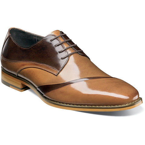 Stacy Adams Talmadge Folded Vamp Oxford - Tan Multi Shoes - Dapperfam.com