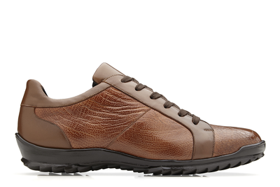Arena - Honey Ostrich & Calf-Skin Leather Sneakers