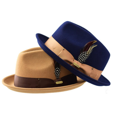 Steven Land Ayden Collection Wool Fedora Hat - Dapperfam.com