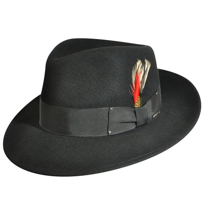 Bailey Large Brim Pinch Front Fedora Hat - Dapperfam.com