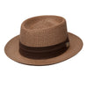 Bishop Vented Milan Straw Porkpie Hat - Dapperfam.com
