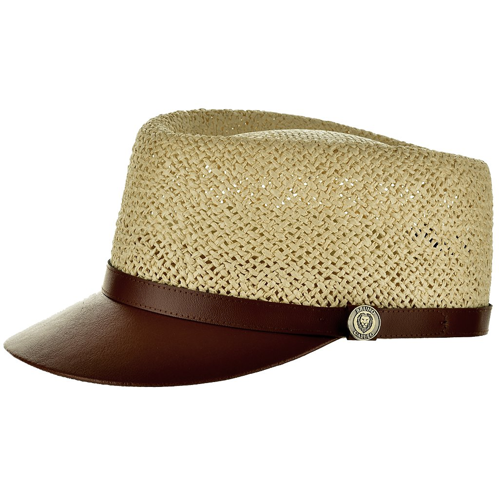 Straw Leather Band Legionnaire Cap Hat - Dapperfam.com