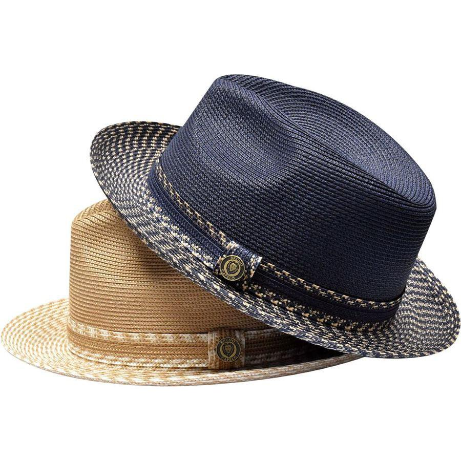 Bruno Capelo Madison Two-Tone Straw Fedora