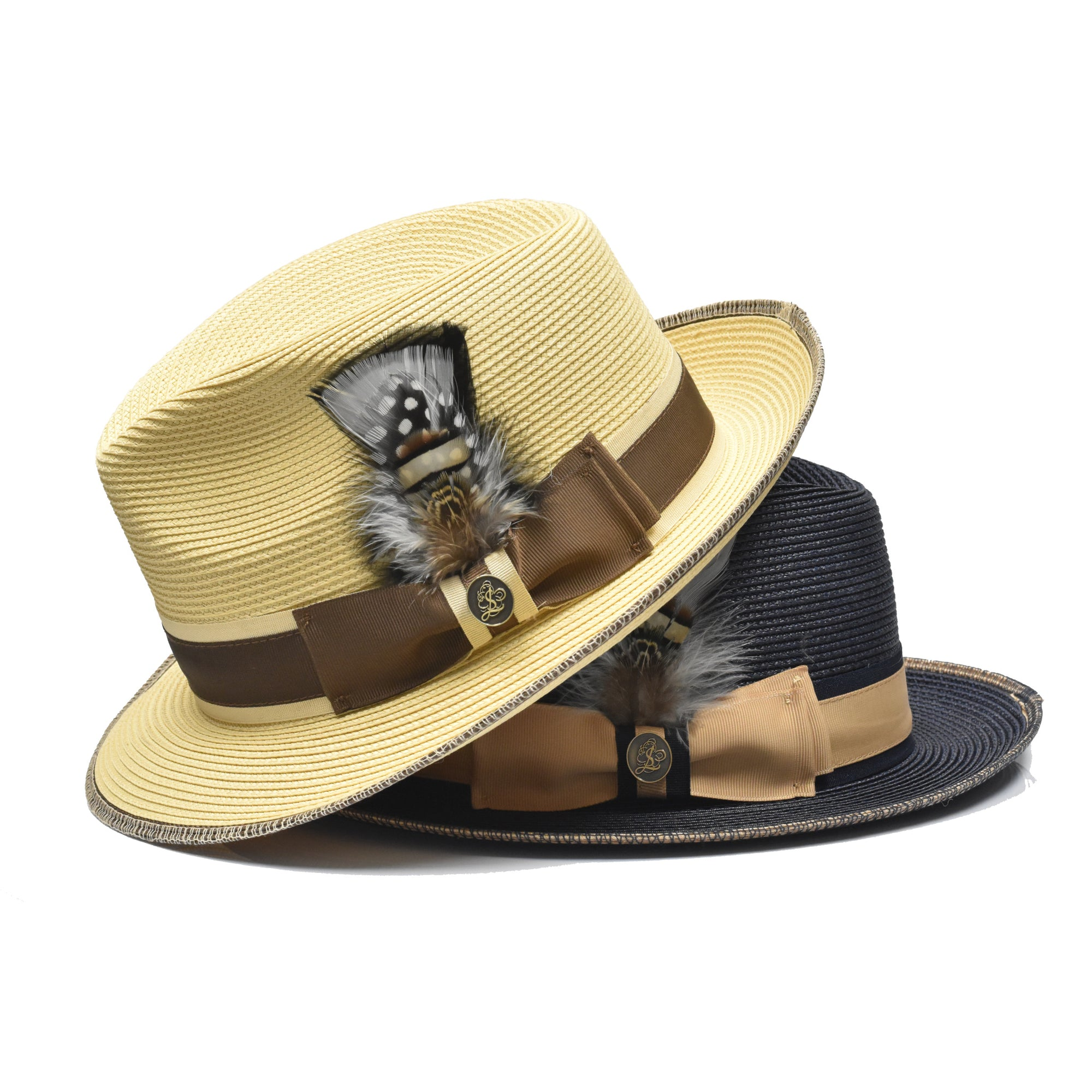 Steven Land Manhattan Natural Braid Fedora