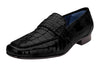 Natale - Black Genuine Caiman & Ostrich Loafers