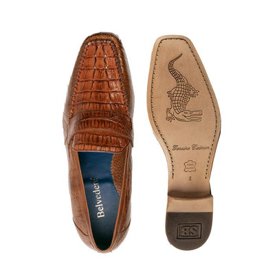 Natale - Brandy Genuine Caiman & Ostrich Loafers