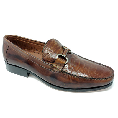 Belvedere Genuine Ostrich Loafer - Cognac Shoes - Dapperfam.com