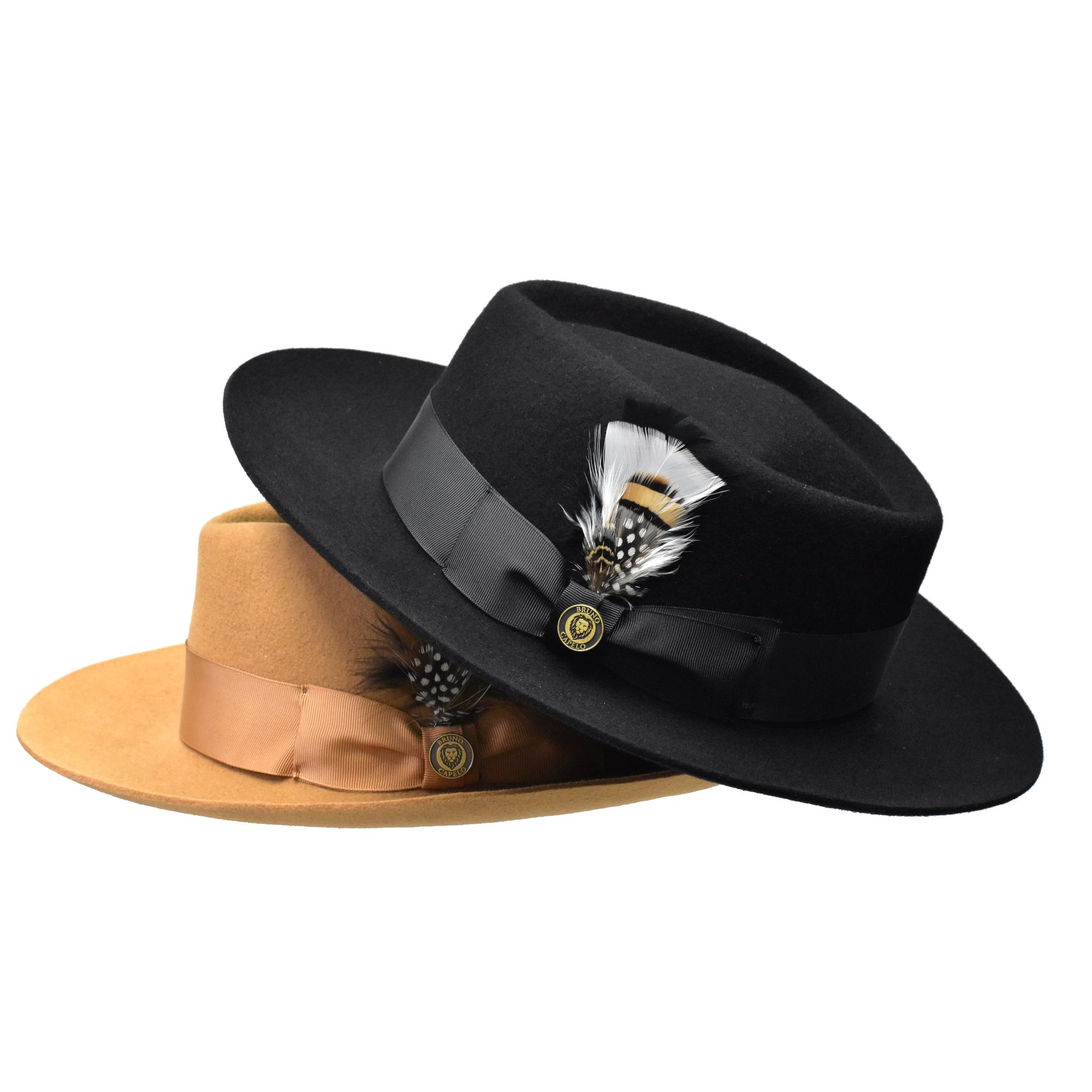 Bruno Capelo Phoenix Wide Brim Raw Edge Fedora