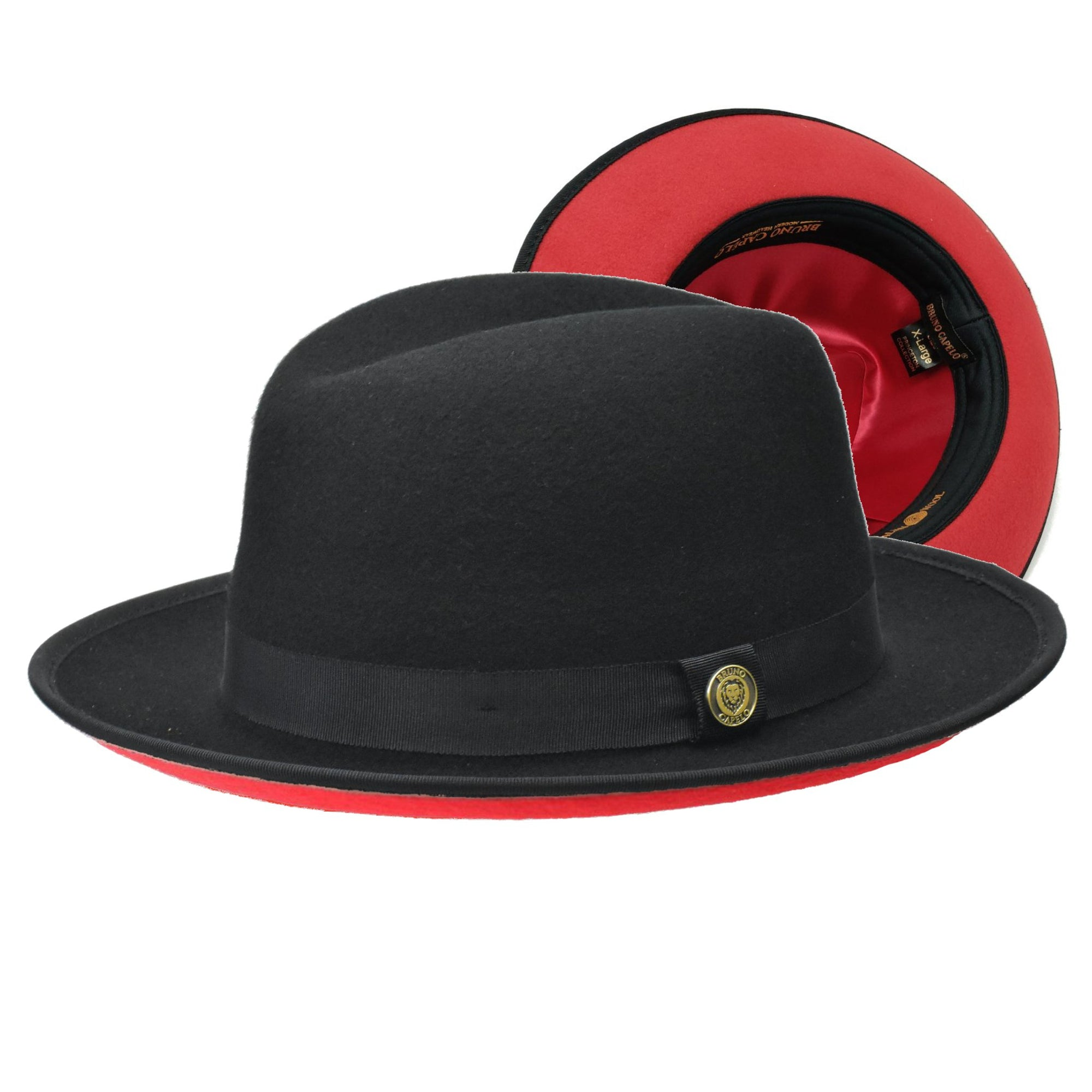 Bruno Capelo Princeton Centerdent Wool Red Bottom Homburg (Godfather) Hat - Dapperfam.com