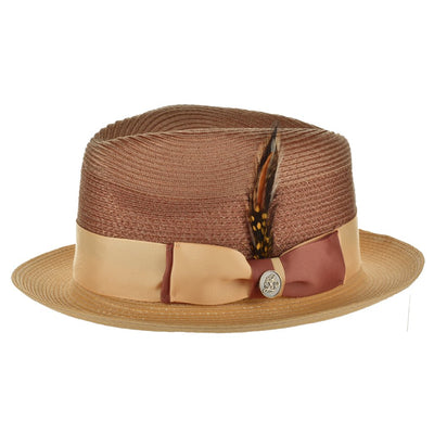 Steven Land Main Street Natural Milan Hemp Fedora