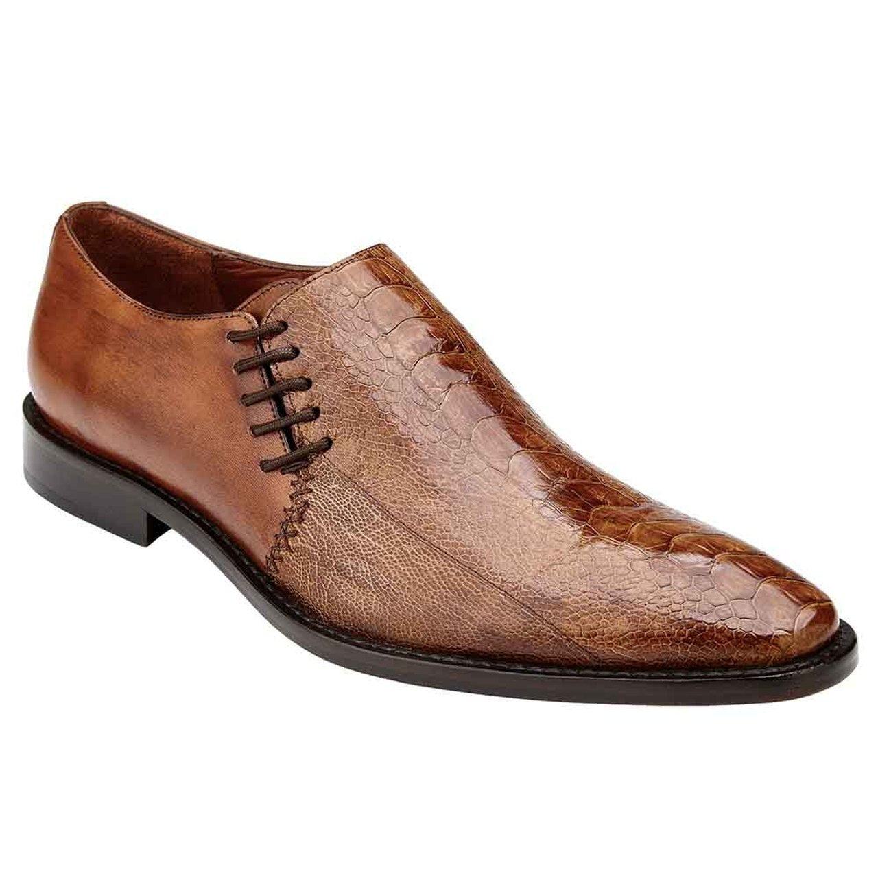 Belvedere Savana - Genuine Ostrich & Italian Calf Men's Slip On Shoes - Dapperfam.com
