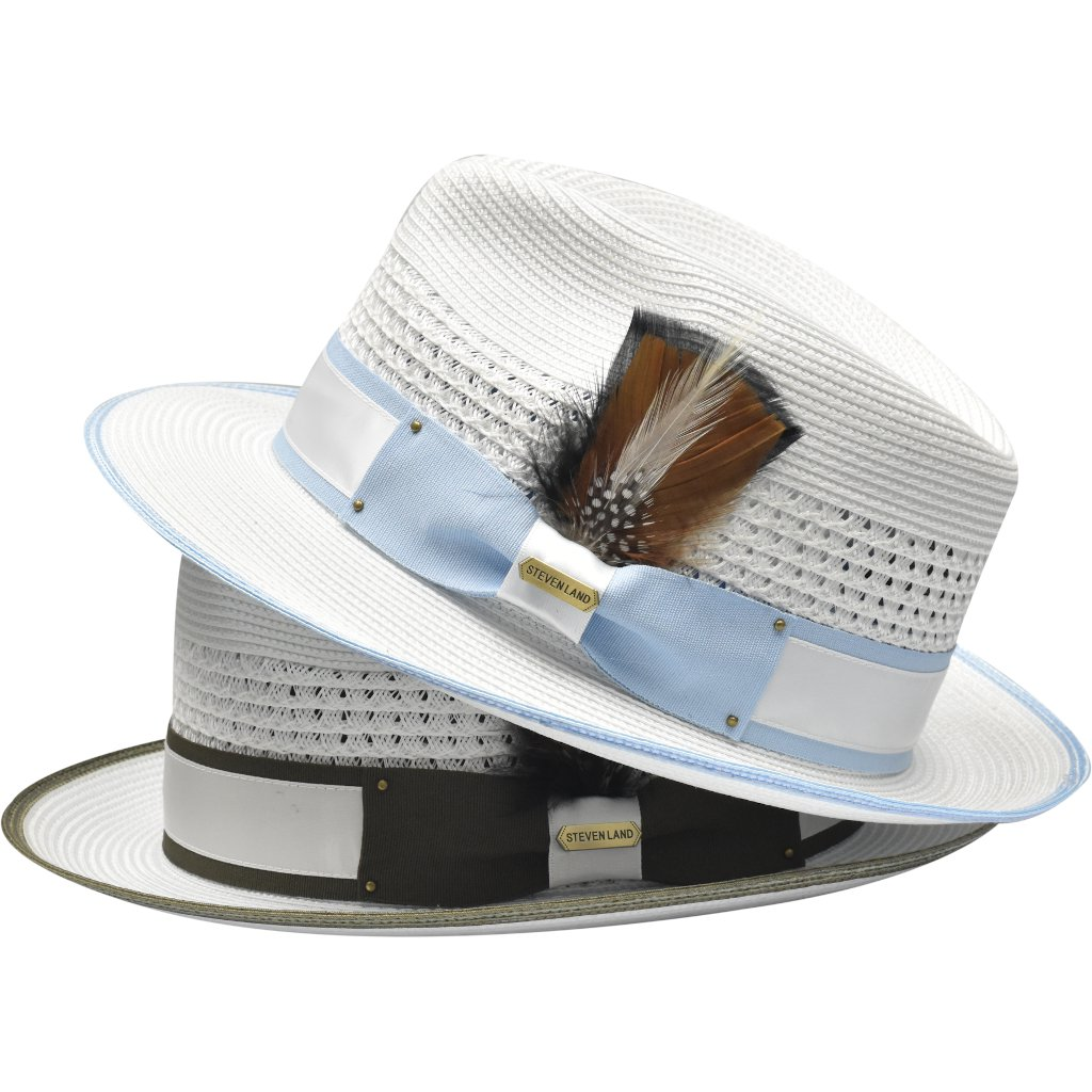 Steven Land Bronx Natural Braid Straw Fedora