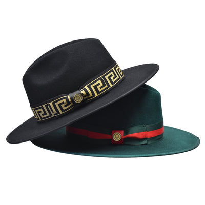 Bruno Capelo The Wesley Wide Brim Pinch Front Hat - Dapperfam.com