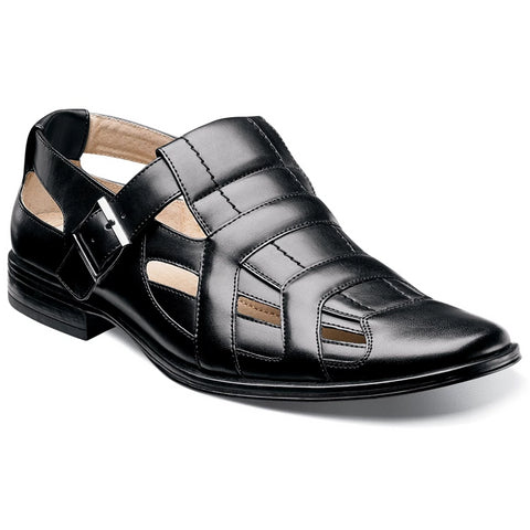 Stacy Adams Madigan Closed Toe Sandal - Black Shoes - Dapperfam.com