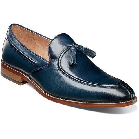 Stacy Adams Donovan Moc Toe Drop Tassel - Indigo Shoes - Dapperfam.com
