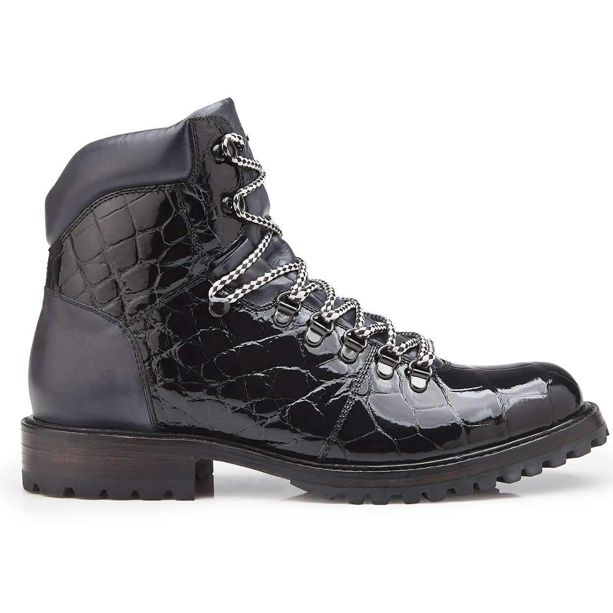 Damian - Black Genuine Alligator & Italian Calf Boots