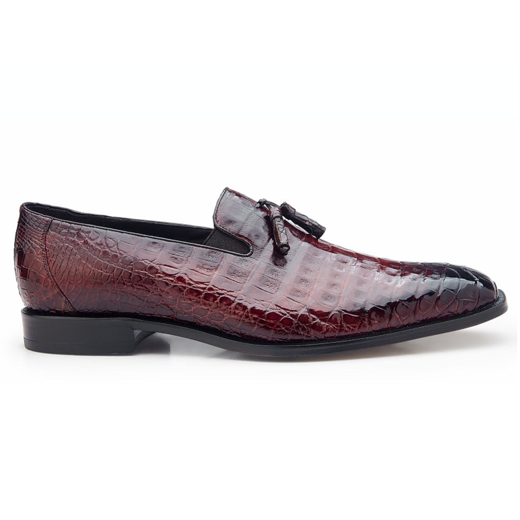 Belvedere Victorio Genuine Crocodile Loafer - Antiqued Brick - Dapperfam.com