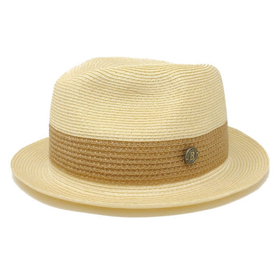 Broadway 100% Natural Milan Hemp Fedora Hat - Dapperfam.com