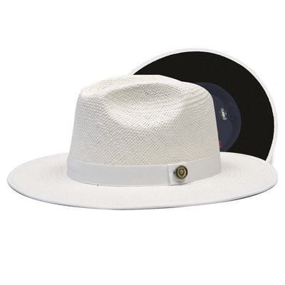 Kingdom Wide Brim Straw Fedora Hat - Dapperfam.com