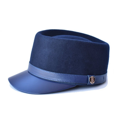 Bruno Capelo Legionnaire Leather Wool Cap