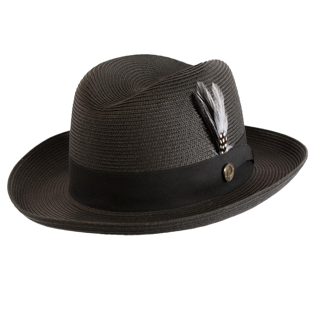 Godfather Straw Fedora Hat - Dapperfam.com