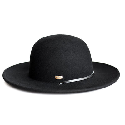 The Jacobi Open Crown Flat Brim Wool Hat