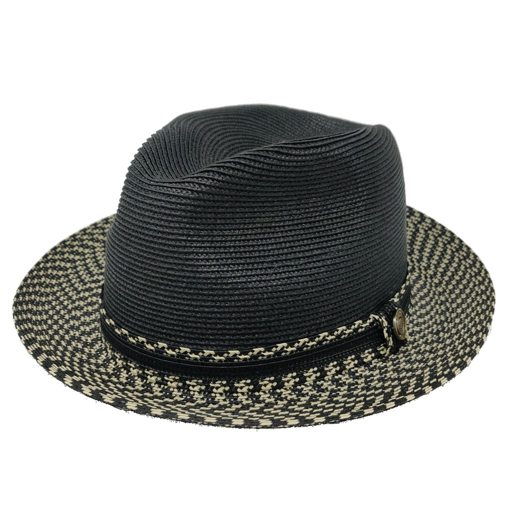 Madison Two-Tone Straw Fedora Hat - Dapperfam.com