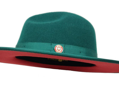 Bruno Capelo Monarch Large Brim Pinch Front Hat - Dapperfam.com