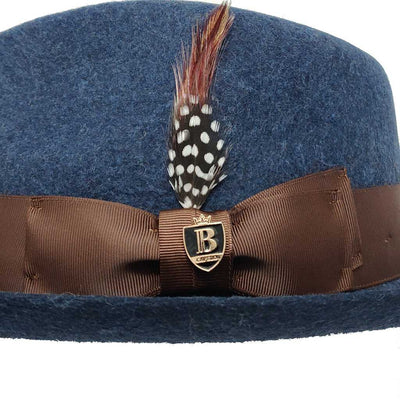Fabio Teardrop Crown Fedora Hat - Dapperfam.com