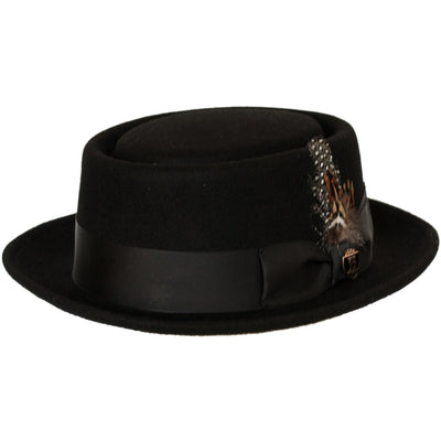 Bruno Capelo Wool Pork Pie Hat
