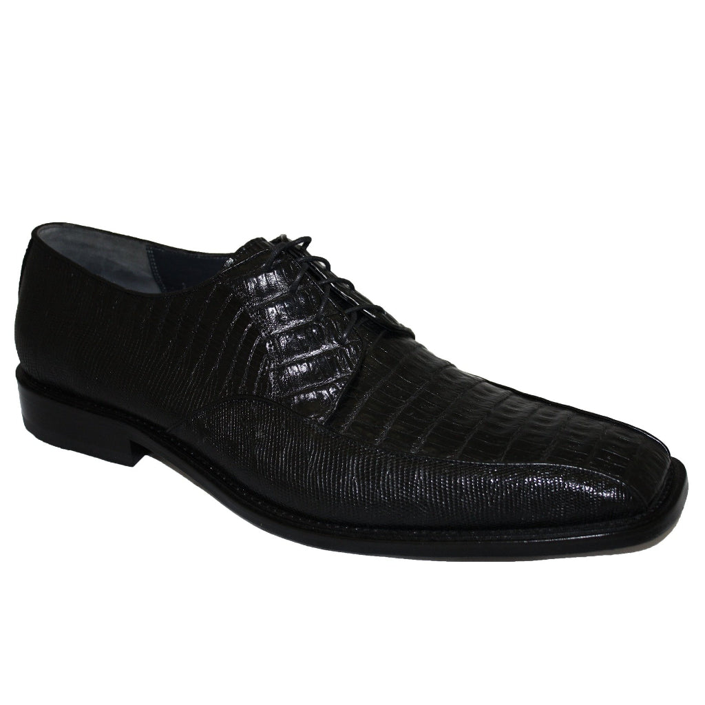 Los Altos Caiman Belly and Teju Oxford - Black - Dapperfam.com