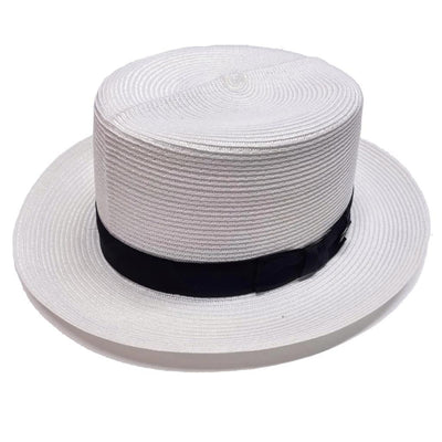 Dobbs Optimo Milan Straw Boater - White Hat - Dapperfam.com